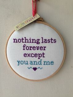 Like, super-cute. | There Is An Etsy Artist Who Cross Stitches Pop Lyrics And They Are So Perfect