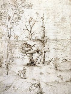Hieronymus Bosch, Der Baummensch - The Tree-Man, um 1500 © Albertina, Wien Hieronymus Bosch, Renaissance, Garden Of Earthly Delights, Dutch Painters, Arte Popular, Dark Art, Lovers Art, Online Art, Painting & Drawing