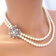 Vintage inspired bridal necklace Wedding necklace by treasures570, $95.00