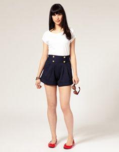 A Wear Gold Button Shorts