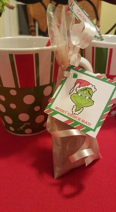 Free Printable Grinch movie night tags for Elf on the Shelf idea