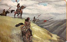grabados de la Guerra de Arauco, les dejo otro del gran artista Luis Rogers, que muestra a exploradores mapuches en 1868.