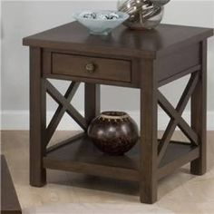 Sliding Top End Table With Fixed Bottom Shelf Franklin, Wrentham, Norfolk,  Massachusetts Furniture Store   Simonu0027s Furniture | Living Room | Pinterest  ...
