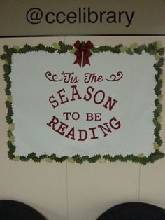 Another new winter library board. Another new winter library board. Christmas Library Bulletin Boards, December Bulletin Boards, Reading Bulletin Boards, Winter Bulletin Boards, Library Boards, Bulletin Board Display, Classroom Bulletin Boards, Preschool Bulletin, Classroom Door