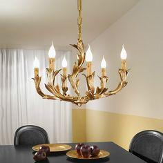 Possoni Three or Six Arm Chandelier available from www.williedugganlighting.com