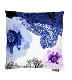 Vallila Interior AW14, Leijonapalmu cushion cover 43x43cm blue by Tanja Orsjoki