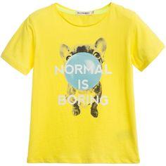 Billybandit Boys Yellow Printed T-Shirt