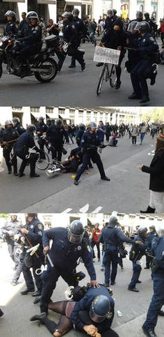 Police brutality on May Day.
