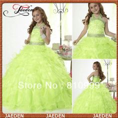 GF002 Halter Ball Gown Lovely With Crystal Girls Puffy Dresses For Kids 2013 $59.00 - 99.00