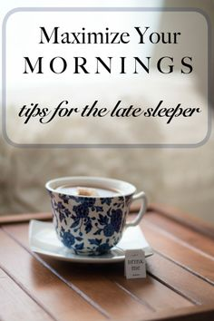 Great list of tips to help you maximize your mornings with little ones. She adds to the list.