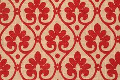 Mill Creek Baxley - Cliffiside Printed Linen Drapery Fabric in Berry $11.95 per yard
