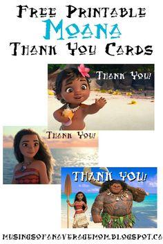 Moana Thank you cards