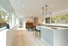 Entrée îlot de Cuisine - Saunders par Sauders Architecture - Bergen, Norvège