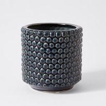 Honeycomb Textured Ceramic  Pot