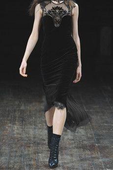 Julien Macdonald  Organza and velvet dress