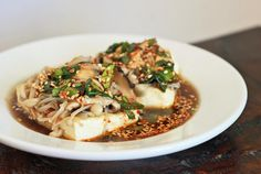 Vegetarian Dubu Jeon- Pan Fried Tofu with Mushrooms | Girl Cooks World