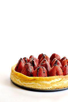 Black Bottomed Balsamic Strawberry Cheesecake
