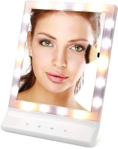 Wall Mounted Makeup Mirror, Makeup Vanity Mirror, Magnifying Mirror, Makeup Mirror With Lights, Bathroom Mirrors, White Led Lights, Chrome Finish, Makeup Cosmetics, Polished Chrome