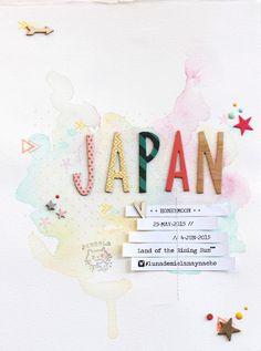 layout Ann's Miles Japan watercolor