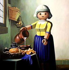 Pierre-adrien Sollier recrée les tableaux les plus célèbres avec des Playmobils
