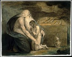 """This is William Blake's version of """"Abraham and Isaac"""". Description from pinterest.com. I searched for this on bing.com/images"""