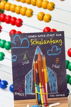 Glückwunschkarten zur Einschulung. Die Karten überbringen Glückwünsche, machen Mut und sind liebevolle Erinnerungsstücke an einen wirklich ganz besonderen Tag im Kreis der Familie. Mehr Karten unter www.hanra.de