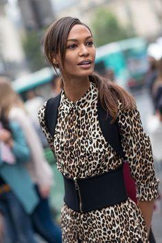 Street Style: Paris Fashion Week Spring 2014 - Joan Smalls