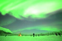 These northern lights get so bright that they're overexposed (Photo: Chad Blakley / Lights Over Lapland)