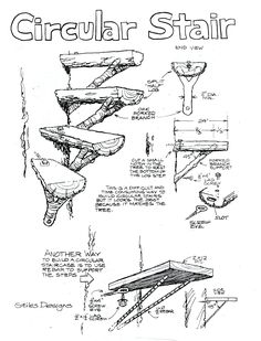 Treehouse Tip #5: Ever thought about a circular staircase for your next treehouse or diy project? Check out this easy-to-follow guide!