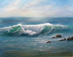 sonia palik artist | An Evening Wave Painting - An Evening Wave Fine Art Print