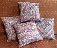 Stitch & Slash pillows by tinahvit | Quilting Ideas