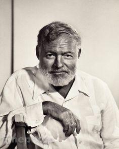 1957 Ernest Hemingway -- Literature, writer, author -- photo by Yousuf Karsh