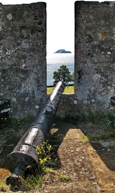 Fort used many years ago to protect themselves from in coming..TERCEIRA (AZORES ISLANDS)