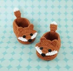 The Best Crochet Shoes For Kids - Diy Crafts - Marecipe Crochet Amigurumi, Crochet Fox, Booties Crochet, Cute Crochet, Baby Booties, Crochet Baby Clothes, Crochet Baby Shoes, Crochet For Boys, Newborn Crochet
