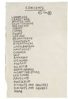 Jean-Michel Basquiat copied the Moby-Dick table of contents onto nine pages of his notebooks