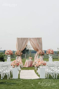 12 Gorgeous Wedding Ceremony Decor Ideas Belle The Magazine is part of Wedding ceremony decorations outdoor - These gorgeous wedding ceremony decor ideas will knock your socks off Pick your favorite and get some inspiration for your own wedding Wedding Outside, Wedding Colors, Wedding Flowers, Peach Wedding Theme, Wedding Quote, Peach Weddings, White Weddings, Country Weddings, Indian Weddings