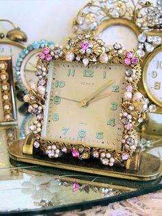 Pretty jeweled clocks