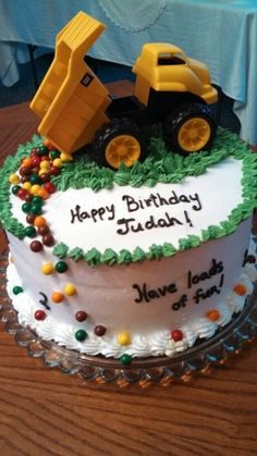 Fun Easy Birthday Cakes | truck birthday cake for a two year old. A fun easy ... | Cake Ideas!