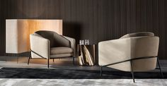 FIL NOIR CHAIR - Designer Chairs from Minotti ✓ all information ✓ high-resolution images ✓ CADs ✓ catalogues ✓ contact information ✓ find your. Contemporary Armchair, Contemporary Furniture, Design Furniture, Chair Design, Italian Furniture Brands, Single Sofa, Elle Decor, Modern Interior Design, Designer