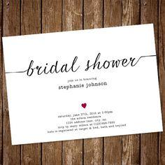 Chevron and wine bridal shower invitation set of 25 by sassyrae simple bridal shower invitation by brighterbeautydesign on etsy filmwisefo