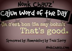 Cajun Word of the Day