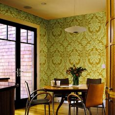 Brewster Home Fashions Echo Design Dessner Damask Wallpaper Accent Wallpaper, Embossed Wallpaper, Damask Wallpaper, Print Wallpaper, Wallpaper Roll, Pattern Wallpaper, Big Design, Living Spaces, Interior