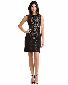 Tahari ASL Black Laser Cut Dress $138.00$54.90