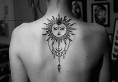 Sun Tattoo back More