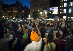 Click through the slideshow to look at photos from the Sikh Vigil in Union Square NEW YORK -- Across America, thousands gathered on Wednesday ev. Union Square, Wisconsin, Dolores Park, Nyc, Community, Indian, Photos, Pictures, New York