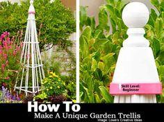 Unique Backyard Gardens | How To Make A Unique Garden Trellis -