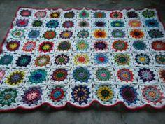 Manta En Crochet Fibra Acrílica