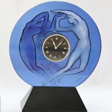 Day And Night Clock The Finest Collection of Rene Lalique Glass Available in The World.