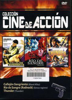 FEBRER-2014. Callejón sangriento. Río de sangre. Thunder.  DVD INTRIGA WEL