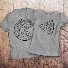 Pizza t shirt / piece of pizza / couple shirts / matching couple shirts / couples shirts / his and hers shirts / couple / pärchen t-shirts - Love Shirts - Ideas of Love Shirts - - Couple matching t-shirts Piece Of by SayYouLoveMeGifts on Etsy Father Son Matching Shirts, Matching Couple Shirts, Matching Couples, Couple Tshirts, Stück Pizza, T Shirt Painting, Best Friend Shirts, Love Shirt, Couple Goals